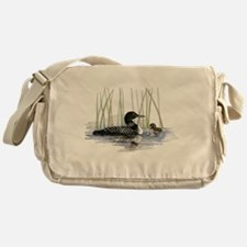 Loon and baby Messenger Bag