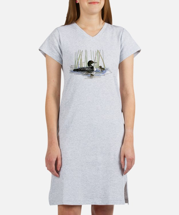 Loon and baby Women's Nightshirt