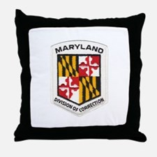 Maryland Correction Throw Pillow