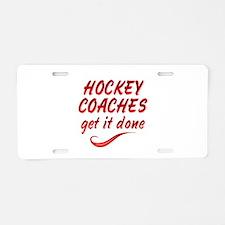 Hockey Coaches Aluminum License Plate