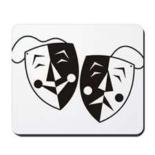 Comedy and Tragedy Masks Mousepad