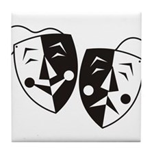 Comedy and Tragedy Masks Tile Coaster