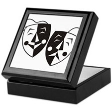 Comedy and Tragedy Masks Keepsake Box