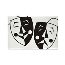 Comedy and Tragedy Masks Rectangle Magnet