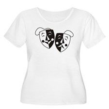 Comedy and Tragedy Masks Plus Size T-Shirt
