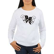 Comedy and Tragedy Masks Long Sleeve T-Shirt