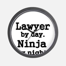 Lawyer by day Wall Clock