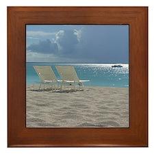 Cute Tropical storm Framed Tile