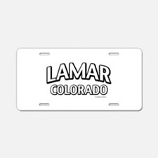 Lamar Colorado Aluminum License Plate
