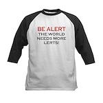 Be Alert, World Needs Lerts Kids Baseball Jersey