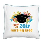 Nursing School 2017 Grad Square Canvas Pillow