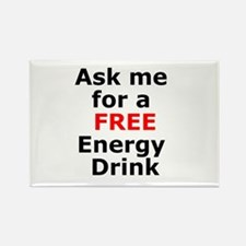 Free Energy Drink Rectangle Magnet