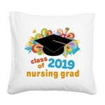 Nursing School 2019 Grad Square Canvas Pillow