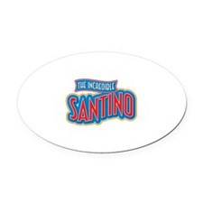 The Incredible Santino Oval Car Magnet