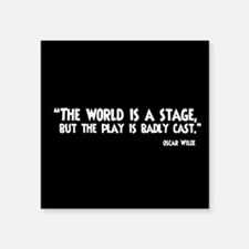 The World Is A Stage Sticker
