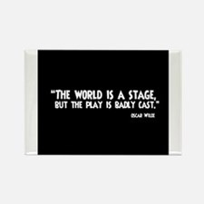 The World Is A Stage Rectangle Magnet