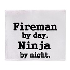 Fireman by day Throw Blanket
