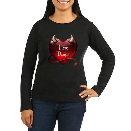 """Love Demon"" Women's Long Sleeve Dark T-Shirt"