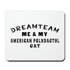 American Polydactyl Cat Designs Mousepad