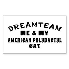 American Polydactyl Cat Designs Decal
