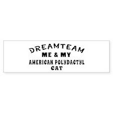 American Polydactyl Cat Designs Bumper Sticker