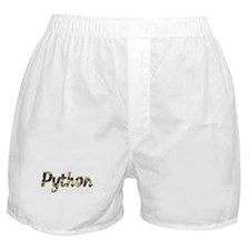 Snake Python Letters Boxer Shorts