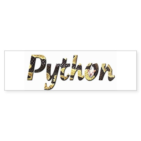 Snake Python Letters Bumper Bumper Sticker By Luvtocreate