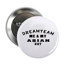 "Asian Cat Designs 2.25"" Button"