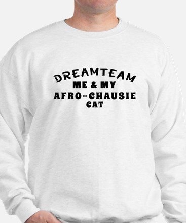 Afro-Chausie Cat Designs Sweatshirt