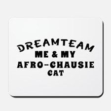 Afro-Chausie Cat Designs Mousepad