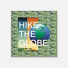 "TOP Hiking Slogan Square Sticker 3"" x 3"""
