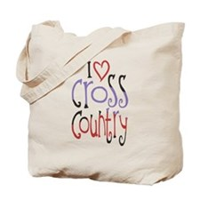 I love (heart) cross country Tote Bag
