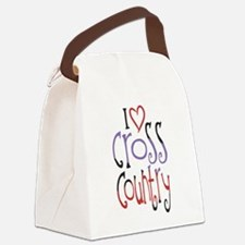 I love (heart) cross country Canvas Lunch Bag