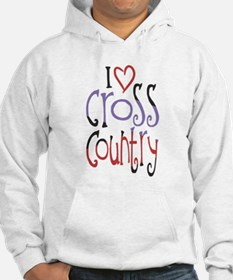 I love (heart) cross country Hoodie