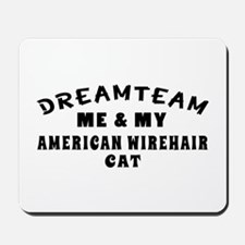 American Wirehair Cat Designs Mousepad