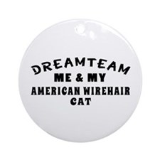 American Wirehair Cat Designs Ornament (Round)