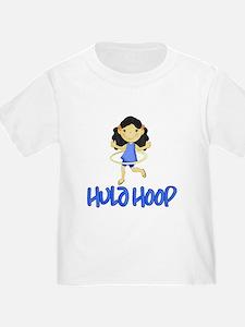 Hula Hoop Girl (Blue) T