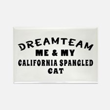 California Spangled Cat Designs Rectangle Magnet