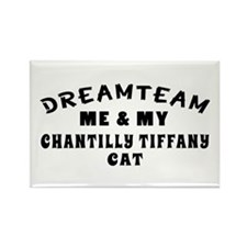 Chantilly Tiffany Cat Designs Rectangle Magnet