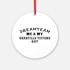 Chantilly Tiffany Cat Designs Ornament (Round)
