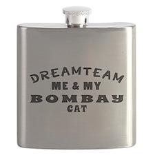 Bombay Cat Designs Flask