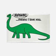 Rawr Means I Love You Rectangle Magnet