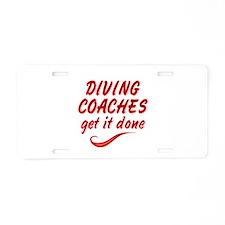 Diving Coaches Aluminum License Plate