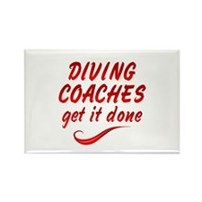 Diving Coaches Rectangle Magnet