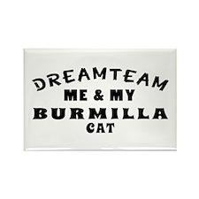 Burmilla Cat Designs Rectangle Magnet