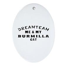 Burmilla Cat Designs Ornament (Oval)