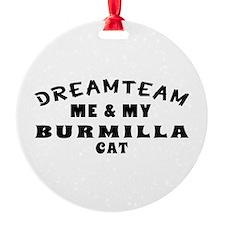 Burmilla Cat Designs Ornament