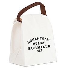 Burmilla Cat Designs Canvas Lunch Bag