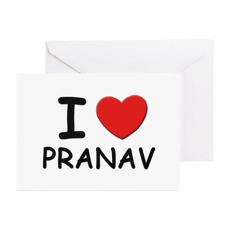 I love Pranav Greeting Cards (Pk of 10)
