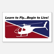 Learn To Fly . . . Live! Rectangle Decal